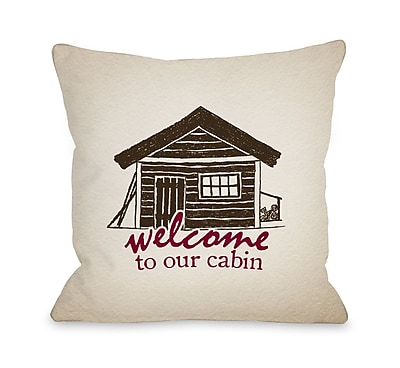 Loon Peak Andre Welcome to the Cabin Throw Pillow; 18'' x 18''