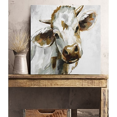 August Grove 'Dairy Dandy' Oil Painting Print on Wrapped Canvas; 16'' H x 16'' W