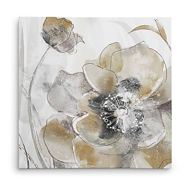 Winston Porter 'Taupe Spring Poppy I' Oil Painting Print on Wrapped Canvas; 32'' H x 32'' W