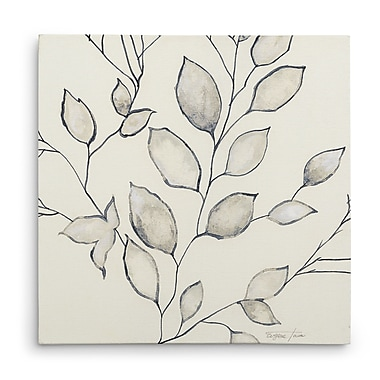 Ebern Designs 'Whispering Leaves II' Oil Painting Print on Wrapped Canvas; 16'' H x 16'' W