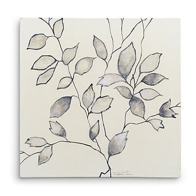 Ebern Designs 'Whispering Leaves I' Oil Painting Print on Wrapped Canvas; 24'' H x 24'' W