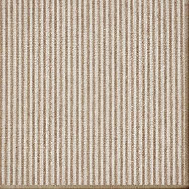 Gracie Oaks Meredith Stripe Taupe Area Rug; 9' x 12'