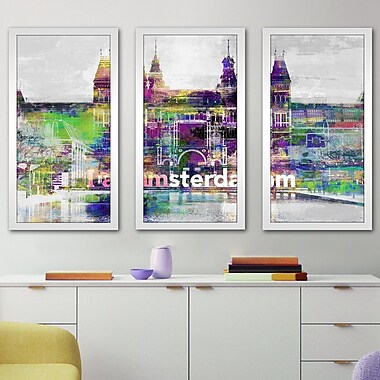 Latitude Run 'I Amsterdam IV' Framed Graphic Art Print Multi-Piece Image; 25.5'' H x 40.5'' W