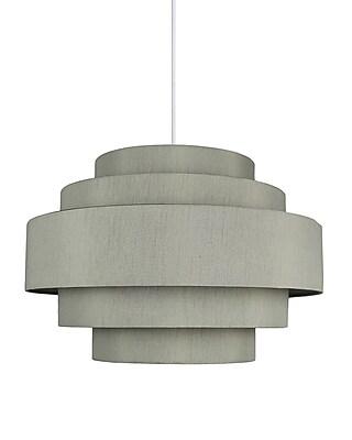 Urbanest Palladio 5-Tier 1-Light Drum Pendant; Moss Gray