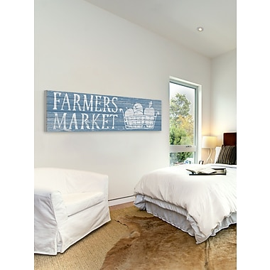 August Grove 'Farmers Market II' Textural Art on Wood
