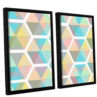 George Oliver Hive 2 Piece Framed Graphic Art on Canvas Set