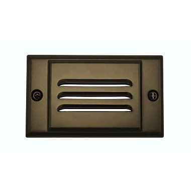 NICOR Lighting Horizontal Faceplate LED Step Light; Oil-Rubbed Bronze