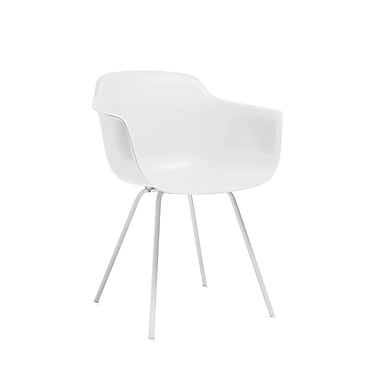 Latitude Run Christophe Mid Century Dining Chair (Set of 4); White
