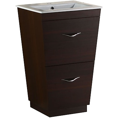 Brayden Studio Kao Modern Floor Mount 23.75'' Single Bathroom Vanity Set; Single Hole