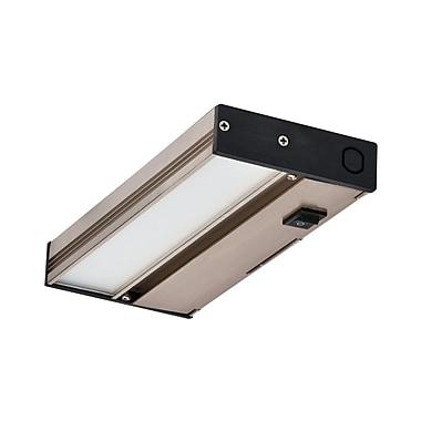 NICOR Lighting Hardwired Hi/Low/Off Slim LED 8'' Under Cabinet Bar Light; Nickel