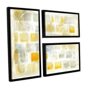 Brayden Studio Caracalla I 3 Piece Framed Graphic Art on Wrapped Canvas Set