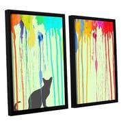 Ivy Bronx Streak 2 Piece Framed Graphic Art on Canvas Set