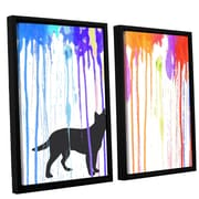 Ivy Bronx Paint Pup 2 Piece Framed Graphic Art on Canvas Set