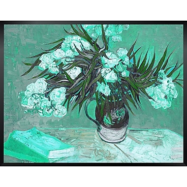 Red Barrel Studio 'Vase w/ Oleanders and Books' by Vincent Van Gogh Framed Oil Painting Print