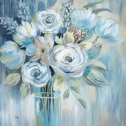 Ophelia & Co. 'Flourish I' Graphic Art Print on Wrapped Canvas; 24'' H x 24'' W