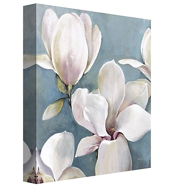 Ophelia & Co. 'New Magnolias I Light' Graphic Art Print on Wrapped Canvas; 30'' H x 30'' W