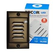 NICOR Lighting LED Step Light w/ Photocell Sensor; Oil-Rubbed Bronze