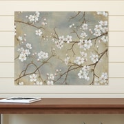 Ophelia & Co. 'White Blossom I' Graphic Art Print on Wrapped Canvas; 22'' H x 28'' W