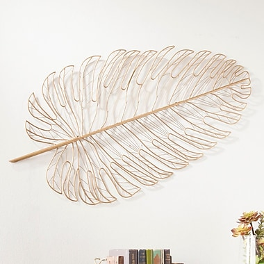 Everly Quinn Hanging Metal Feather Wall D cor