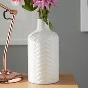 Mistana Traditional White Ceramic Vase