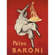 Red Barrel Studio 'Pates Baroni' Vintage Advertisement on Wrapped Canvas; 28'' H x 22'' W
