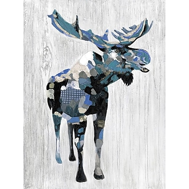 Loon Peak 'Wildlife Moose' Graphic Art Print on Wrapped Canvas; 28'' H x 22'' W
