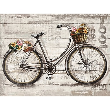 August Grove 'Wheels II Spring' Graphic Art Print on Wrapped Canvas; 30'' H x 40'' W