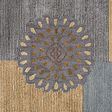 Red Barrel Studio Waveland Hand Tufted Wool Beige/Green Area Rug; 8' x 10'