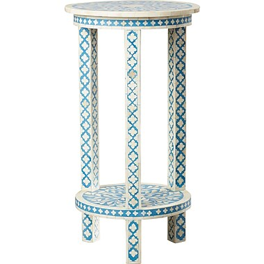 Mistana Brock Traditional Bone Inlay End Table
