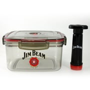 Jim Beam Vacuum Sealed Marinade Box Glass for Grilling and BBQ