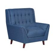 Ivy Bronx Asha Tufted Mid Century Arm Chair; Ocean Blue