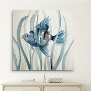 Bay Isle Home 'Fish in Seagrass II' Oil Painting Print on Wrapped Canvas; 16'' H x 16'' W