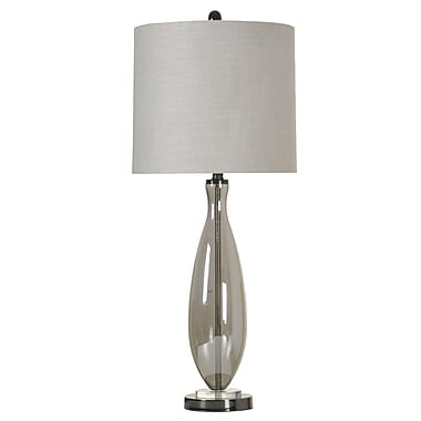 Ivy Bronx Lynsey Smoke Glass 33.5'' Table Lamp