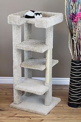 New Cat Condos 46'' New 4 Level Cat Condo; Beige