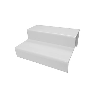 2-Tier Acrylic Step Riser, White