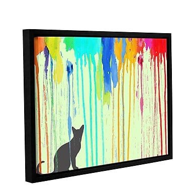 Ivy Bronx Streak Framed Graphic Art on Wrapped Canvas; 14'' H x 18'' W