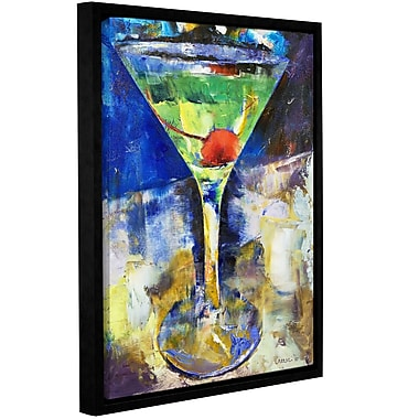 Ivy Bronx Summer Breeze Martini Framed Painting Print; 10'' H x 8'' W x 2'' D