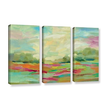 Brayden Studio Sunny Fields 3 Piece Set Painting Print on Wrapped Canvas; 24'' H x 36'' W x 2'' D