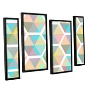 George Oliver Hive 4 Piece Framed Graphic Art on Canvas Set; 24'' H x 36'' W x 2'' D