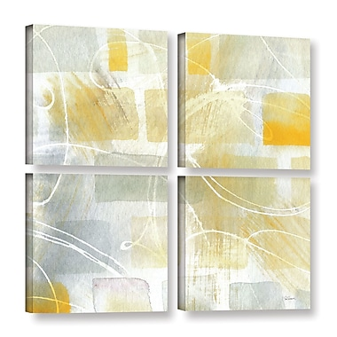 Brayden Studio Caracalla III 4 Piece Graphic Art on Wrapped Canvas Set; 48'' H x 48'' W x 2'' D