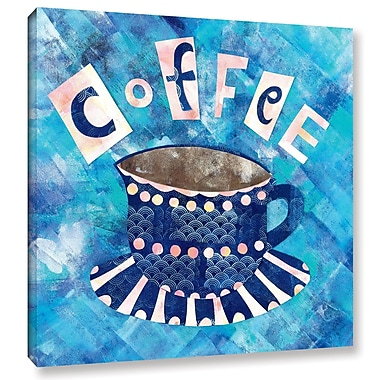 Ivy Bronx Caf Collage I Graphic Art on Wrapped Canvas; 14'' H x 14'' W x 2'' D