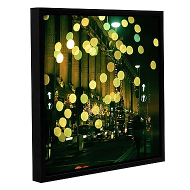 Ivy Bronx Christmas Lights in Oxford Street Framed Photographic Print on Canvas; 14'' H x 14'' W