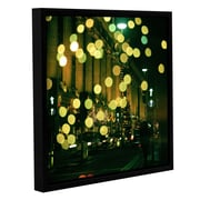 Ivy Bronx Christmas Lights in Oxford Street Framed Photographic Print on Canvas; 10'' H 10'' W