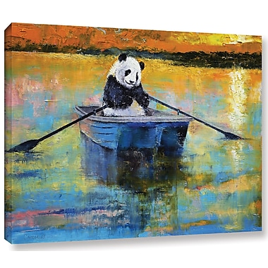 Ivy Bronx Panda Reflections Painting Print on Wrapped Canvas; 8'' H x 10'' W x 2'' D