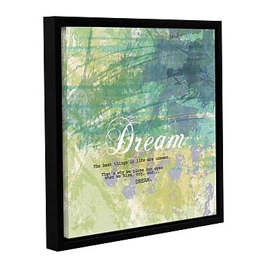 Ivy Bronx Dream Framed Graphic Art on Wrapped Canvas; 18'' H x 18'' W x 2'' D