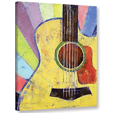 Ivy Bronx Sunrise Guitar Painting Print on Wrapped Canvas; 10'' H x 8'' W x 2'' D