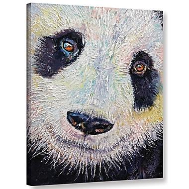 Ivy Bronx Panda Portraite Painting Print on Wrapped Canvas; 18'' H x 14'' W x 2'' D