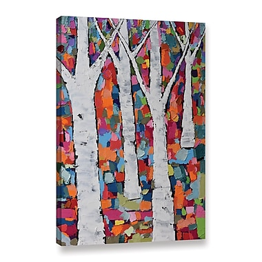 Ivy Bronx Vibrant Forest Painting Print on Wrapped Canvas; 36'' H x 24'' W x 2'' D