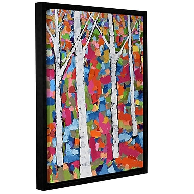 Ivy Bronx Colorful Forest Framed Painting Print on Wrapped Canvas; 18'' H x 14'' W x 2'' D