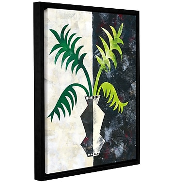 Ivy Bronx Pretty Palms IV Framed Graphic Art on Wrapped Canvas; 10'' H x 8'' W x 2'' D